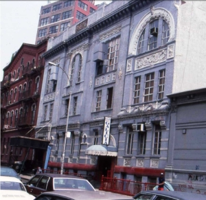 Webster Hall a principios de 1980 cuando acog�a la Casa de Galicia
