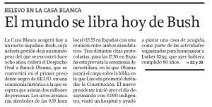 El mundo se libra hoy de Bush - La Voz de Galicia