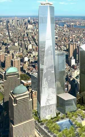 Recreación de One World Trade Center, de 2006, de Skidmore, Owings & Merrill (vía Newsday)