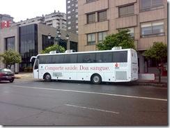 Unidad móvil del Centro de Transfusión de Galicia