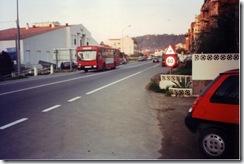 Vitrasa circulando por Chapela en la línea 1. (12-1994)