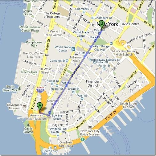 Mapa del Recorrido del Desfile © 2009 Google